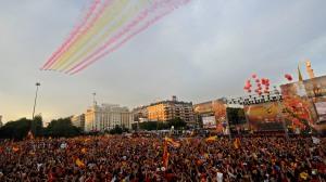 Euro 2008 - Aviones sobre la Plaza de Colón