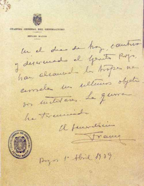 francisco-franco-ultimo-parte-de-la-guerra-civil