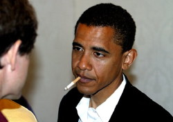 Barack Obama Smoking